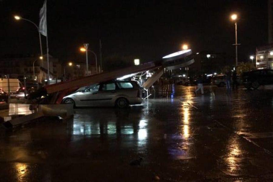 Tornado in Italiaanse stad Caserta zorgt voor veel schade