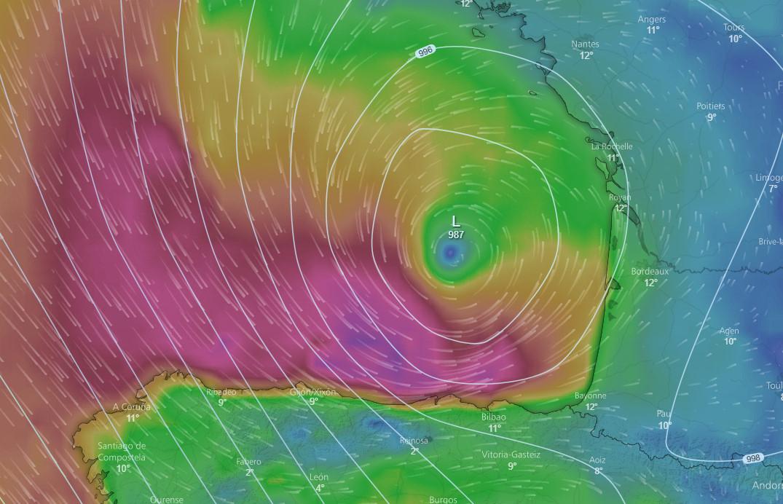 Cyclone storm hugo spanje